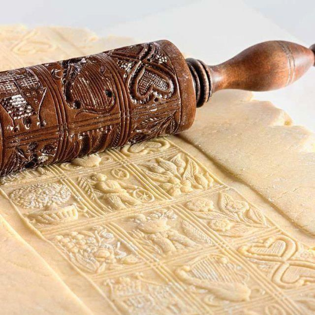 Beautiful embossed rolling pin