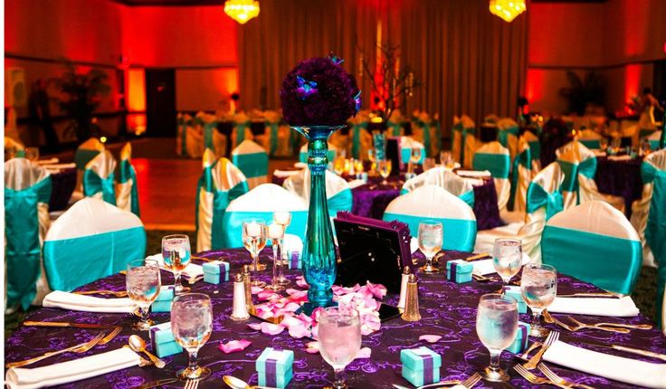 Turquoise And Purple Wedding- The Florist Delivered The