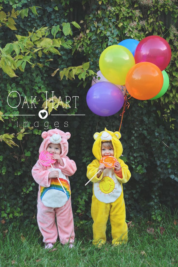 Oak Hart Images Care Bear themed birthday photo 2 year old