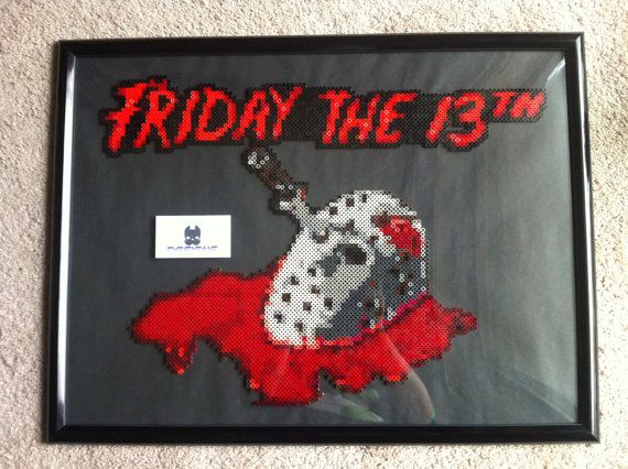 30 best bp horror krimi images on pinterest pearler bead for Friday the 13th tattoos michigan
