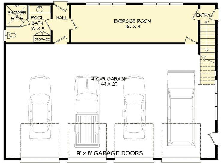 Best 25 full bath ideas on pinterest small full for 2 bay garage plans