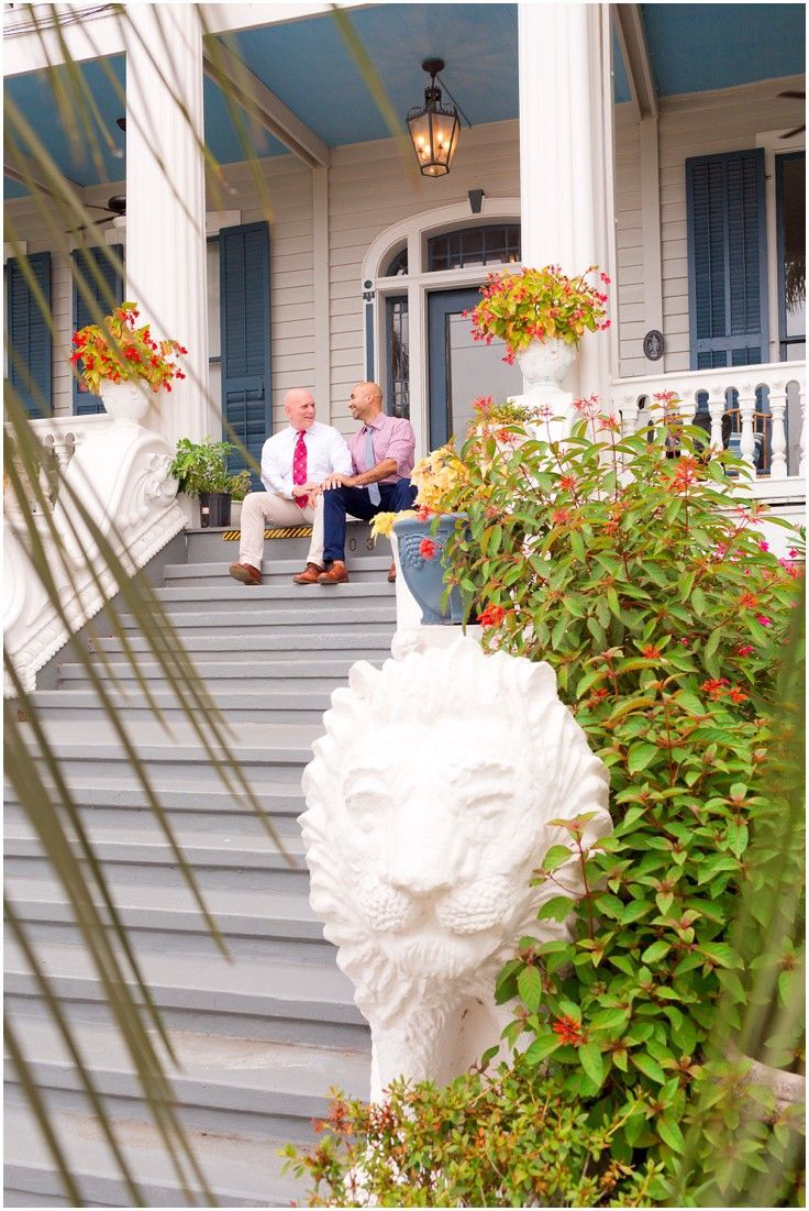 4th of July wedding at Carr Mansion in Galveston, Texas