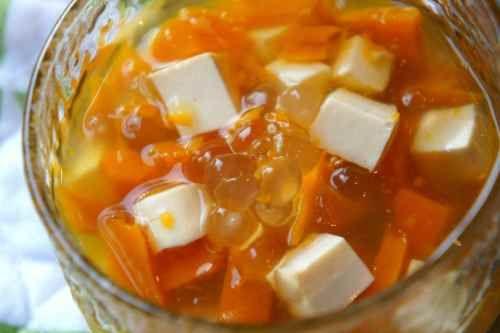 Tofu, pumpkin, ginger, tapioca pudding (low FODMAP, gluten free, vegan)