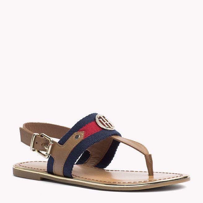 Tommy Hilfiger Leather Mix Sandals - cognac (Brown) - Tommy Hilfiger Sandals - main image