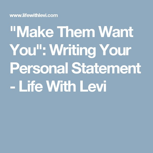 How to write a personal statement on a dating site