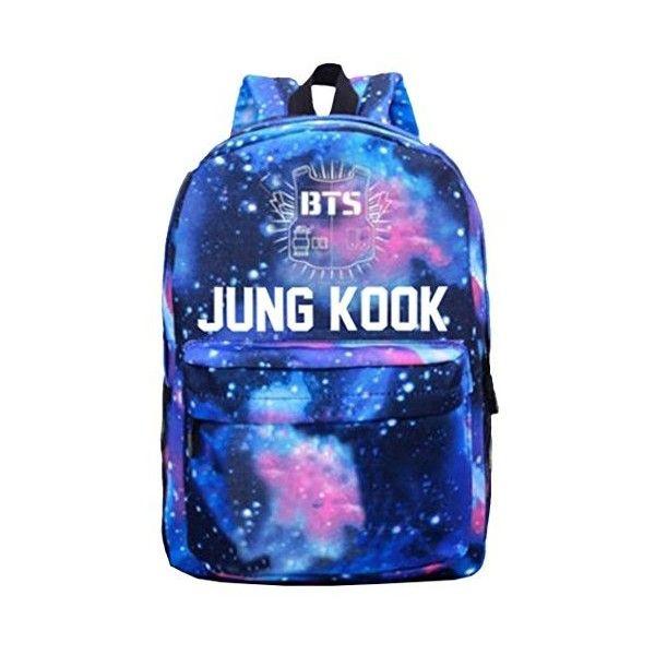 Partiss Unisex Kpop BTS Backpack ($14) ❤ liked on Polyvore featuring bags, backpacks, backpack bags, knapsack bag, blue backpack, rucksack bags and blue bag