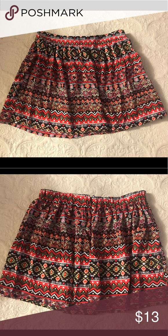 Tribal Print Skirt Light Tribal Print Skirt. Zipper on the side Urban Outfitters Skirts Mini