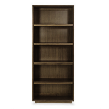 City Walnut Wide Bookcase - £359 | brandinteriors.co.uk