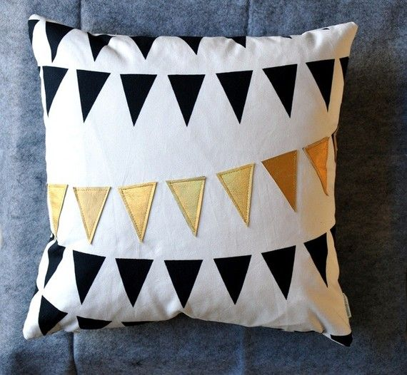 Gold Flag Pillow