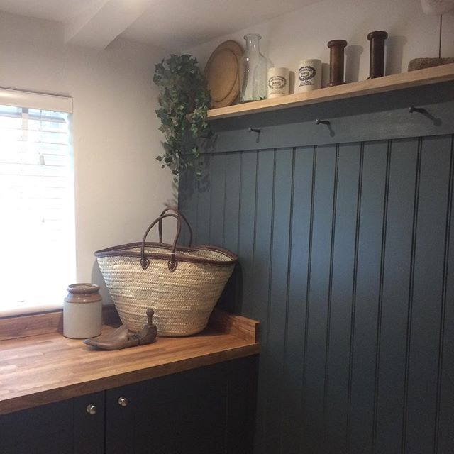 so pleased as this was a strange little room with no character at all and now - Painted Wood Bathroom Interior