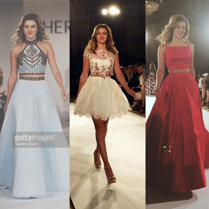 """Sadie Robertson on Instagram: """"amazing show by the Sherri Hill. I'm also happy to announce a whole new Sadie Robertson prom collaboration with @sherrihill will be out this spring including some of the gorgeous dresses you saw tonight♥️ who's excited? 9.13.15"""""""