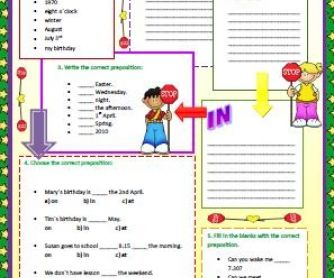 Prepositions of Time (at,in,on)