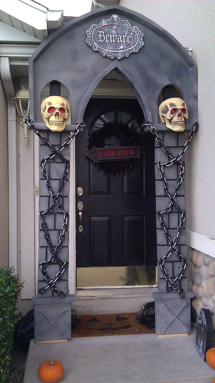 Diy halloween garage door decorations - Find This Pin And More On Halloween Outdoor Decor Diy