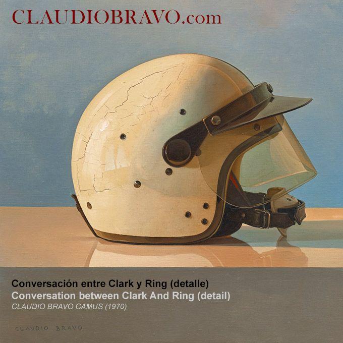 Conversación entre Clark y Ring (detalle) Conversation between Clark And Ring (detail) Óleo sobre lienzo / Oil on Canvas [1970] 64,5 x 92,1 cm. / 25.4 x 36.3 in.   www.ClaudioBravo.com #ClaudioBravoCamus