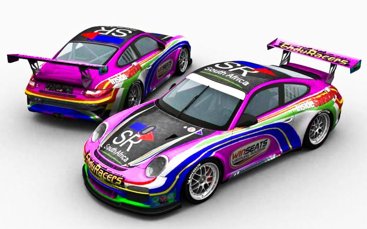 2014 Deltec Racing Team Porsche. Pink livery, to support breast cancer.