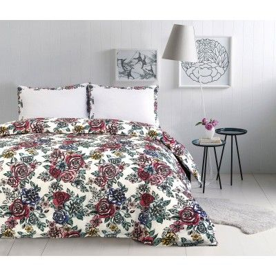 Floral 100% Cotton Duvet Cover Set