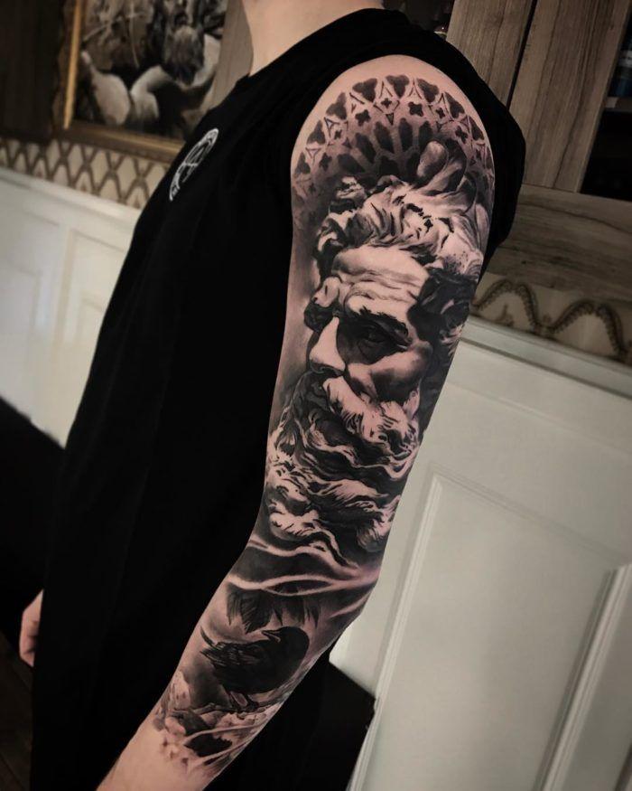 Poseidon Tattoo Poseidon Tattoo Black Grey Tattoos Tattoos
