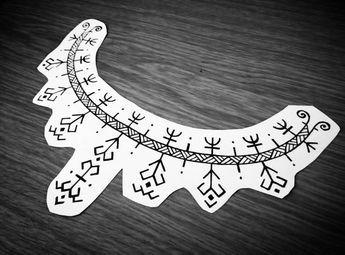 Collarbone tattoo design #tattoo #stencil #tattoodesign #primitive #tribal #warrior #protection #viking #norse #slavic #pagan #dwarf #inspiration #aegishjalmur #yggdrasil #czech #blackandwhite #black #ink #collarbonetattoo (v místě Liberec, Czech...