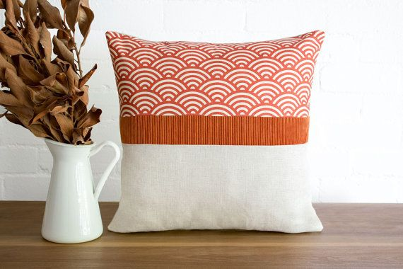 Modern rustic throw pillow cushion cover in by littlecrowdesign
