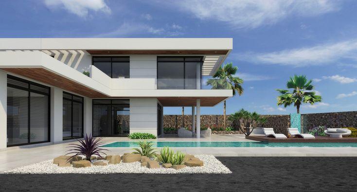 New houses in Lanzarote Island, puerto calero
