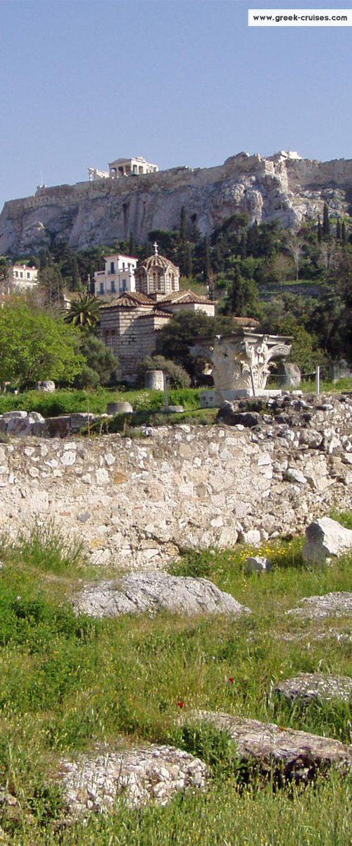 Ancient Agora + The Acropolis Athens, Greece
