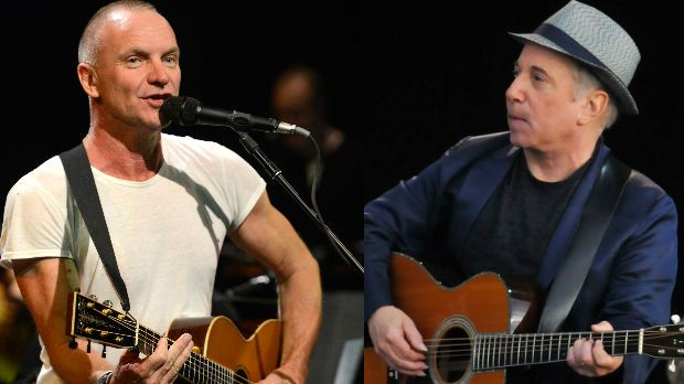 Watch Sting and Paul Simon Team Up For Tour Debut #AmericanSongwriter #Songwriting