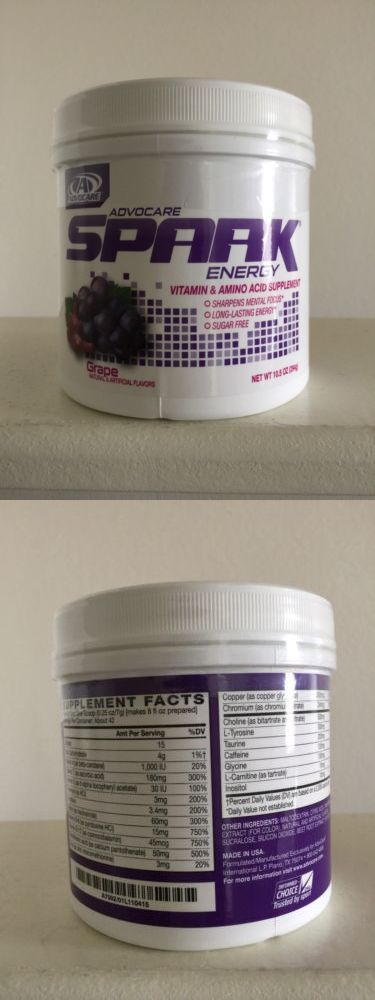 Energy Bars Shakes and Drinks: Advocare Spark Energy Drink (Grape) Canister 10.5 Oz -> BUY IT NOW ONLY: $49.95 on eBay!
