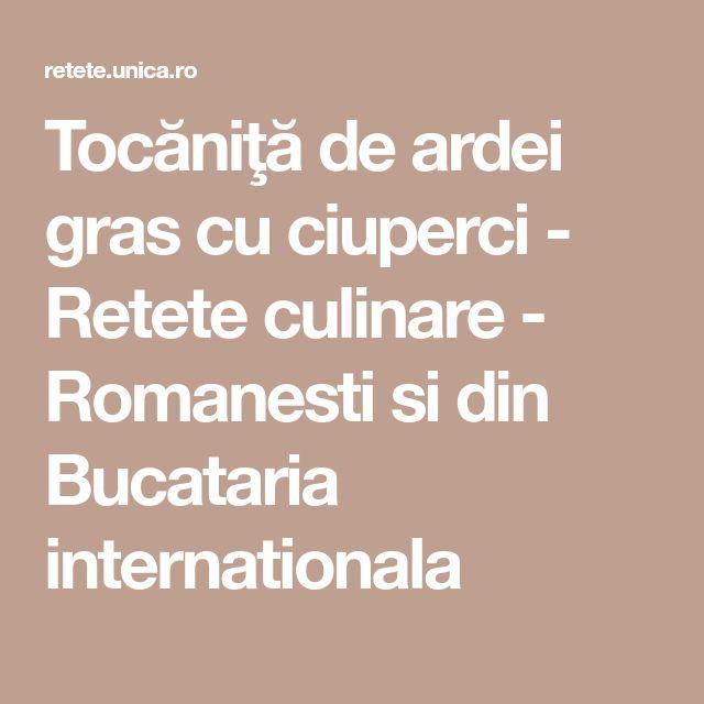 Tocăniţă de ardei gras cu ciuperci - Retete culinare - Romanesti si din Bucataria internationala