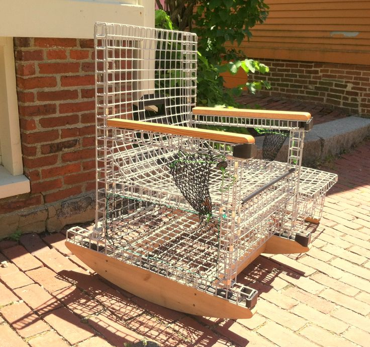 LOBSTER TRAP ROCKER: For the man who has everything - a lobster trap rocking chair with end ...