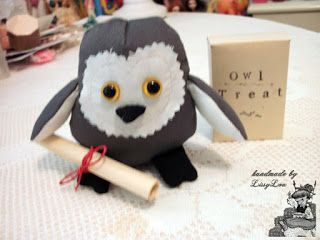 Handmade by Lissy Lou: Pigwidgeon 'Pig' (inspired by the Harry Potter Series)