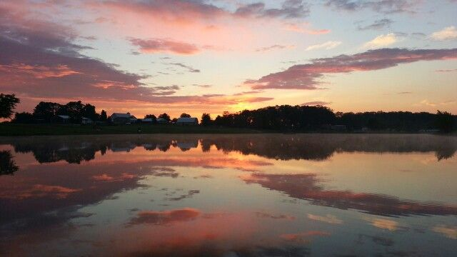 Sunrise at Amishville Campground, Berne, Indiana. #berne #indiana #amishville