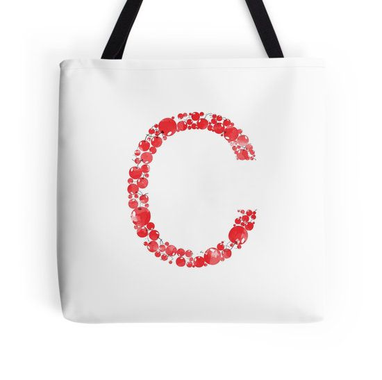C for Cherry Cheer #redbubble #etsy #diy #cherry #red #bag #pillow #case #iphone #sticker #design