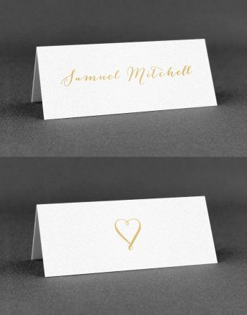 Louise Wedding Place Cards on White Card