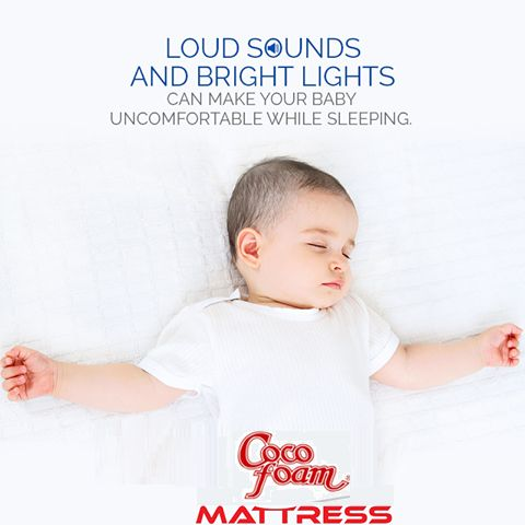 Loud Sounds And Bright Lights Can Make Your BABY Uncomfortable while sleeping. Buy Best and Cheapest Mattress for Your Baby. Call : 09717133188