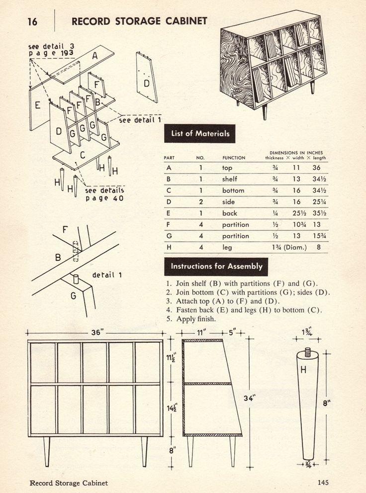 DIY LP Storage Cabinet