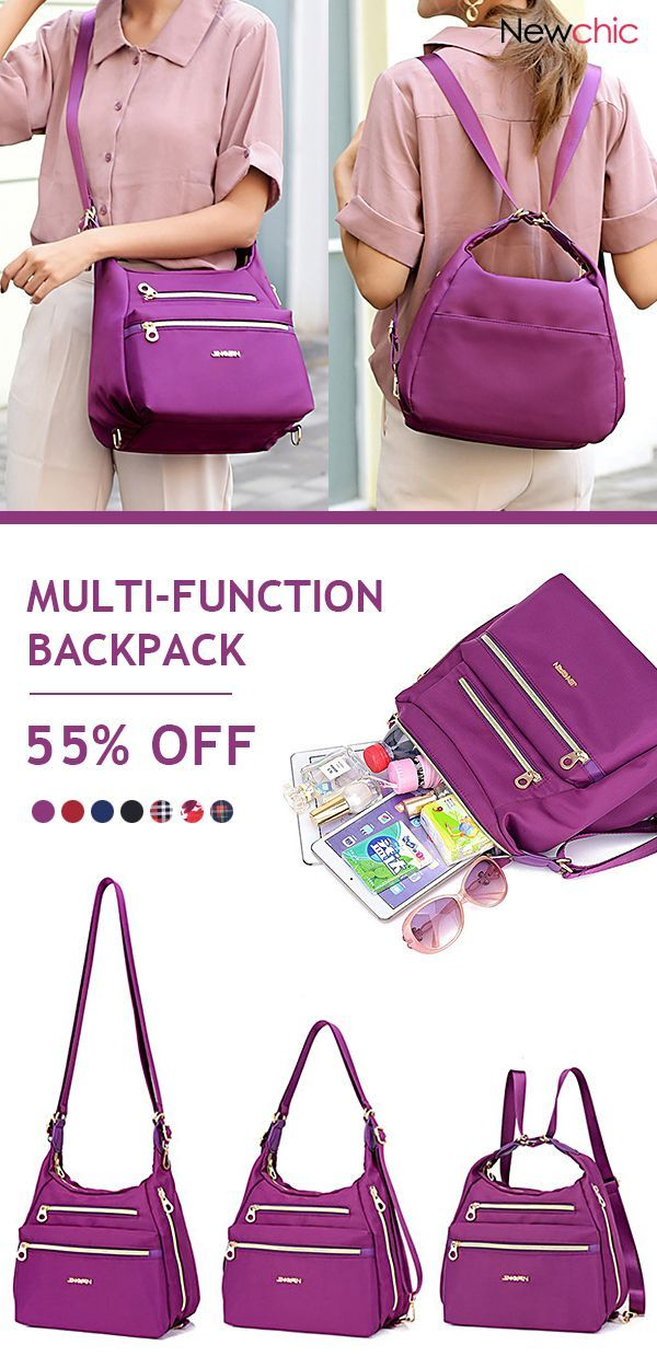 ba8d648b0a8996 Women Multi-function Nylon Waterproof Crossbody Bag Casual Backpack #bags  #multi #functional #nylon #casual #backpack