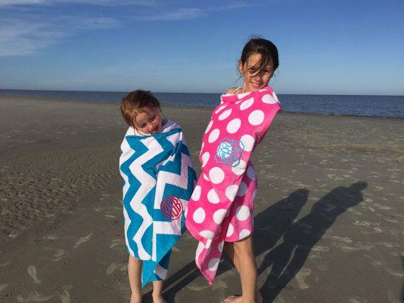 Monogrammed Beach Towel Monogram Beach Towels by PoshPrincessBows1