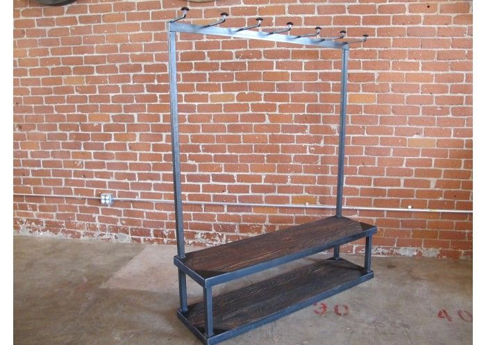 Cleveland Art   Steel + Wood Clothing Rack W/bench   Furniture   Vintage    Pinterest   Diy Clothes Rack, Clothes Racks And Woods