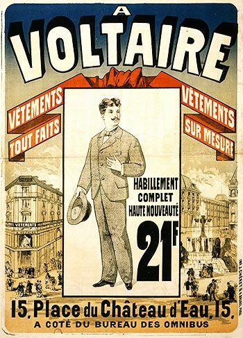 Voltaire. Jules Cheret (1876)