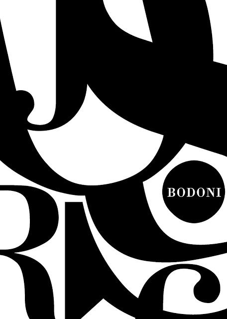 Bodoni, Poster, Design, Typography Poster, by Malwina Marchwicka