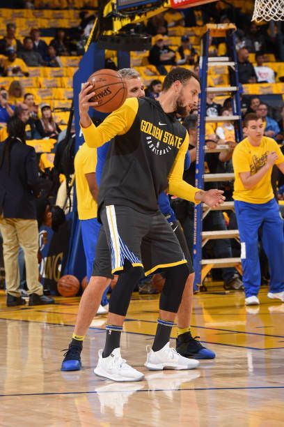 11a1a1f0a7ad Stephen Curry of the Golden State Warriors warms up prior to Game Two of Round  One of the 2018 NBA Playoffs against the San Antonio Spurs on April 16.