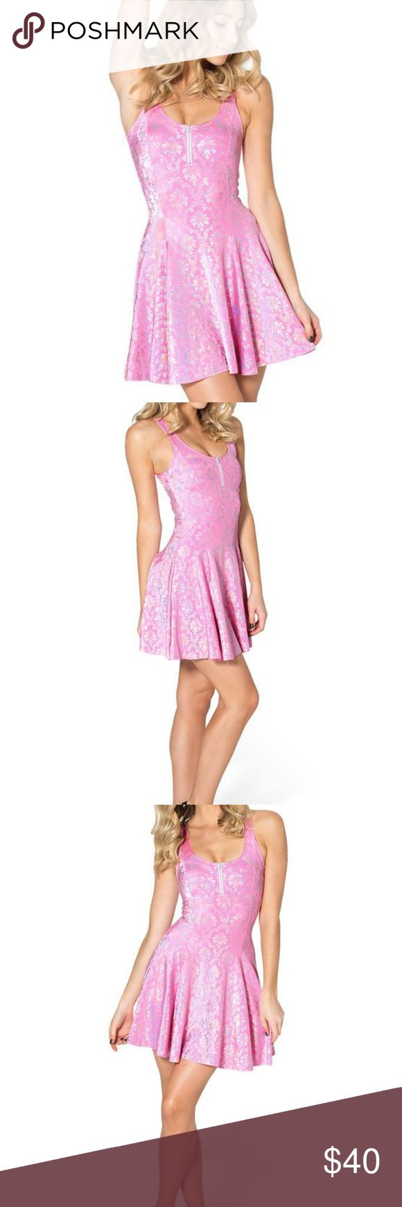 Black Milk Wallpaper Princess Pink Evil Zip Dress Worn once. Blackmilk Dresses