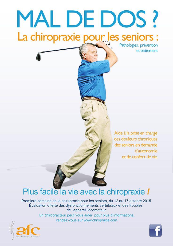 Les seniors sont à l'honneur avec l'Association Française de chiropraxie (AFC) qui met en place la première semaine de chiropraxie dédiée aux seniors !