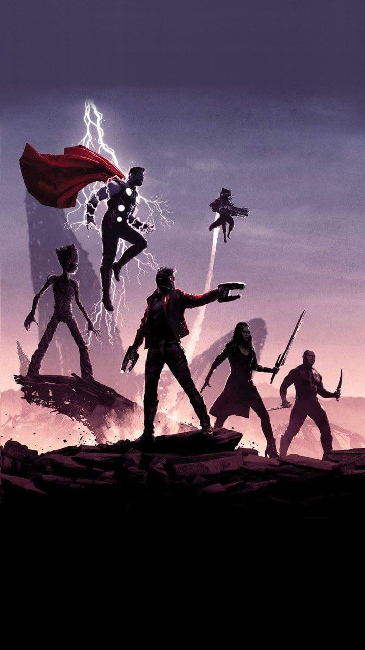 Guardians Of The Galaxy With Thor Marvel Art Guardians Of The Galaxy Marvel Artwork