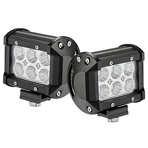 Led Light Bar 2pcs 18w 4 By Glaretek Waterproof Square 12 Volt Led Lights Off Road Work Fog Lights Backup Lights For Led Light Bars Bar Lighting Led Lights