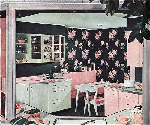 Pink Retro Kitchen: Fabbbbb Retro Kitchen!!