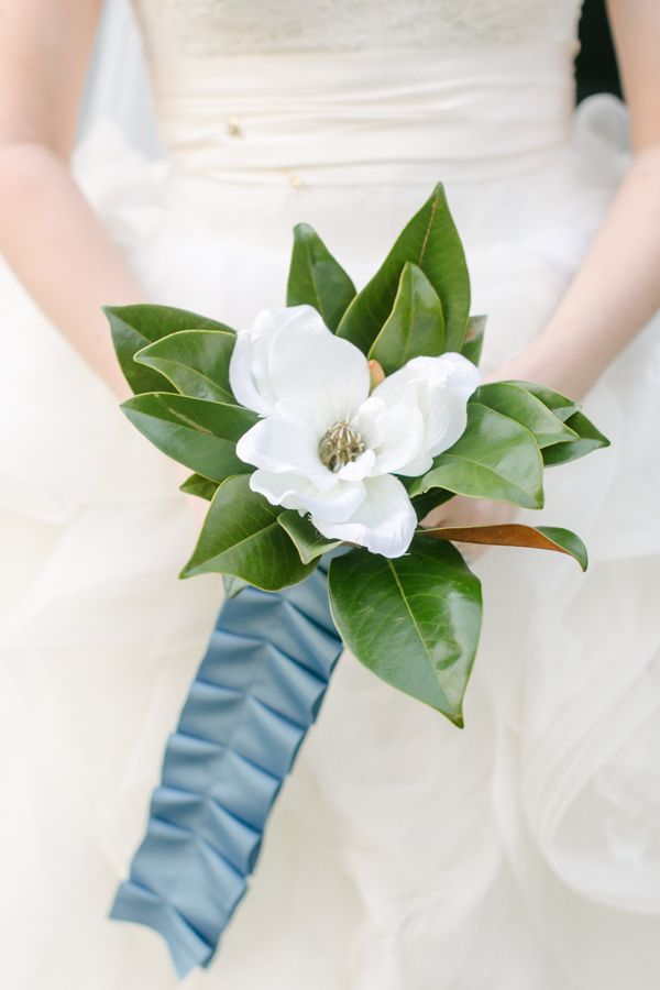 single magnolia bloom bouquet | Caroline Joy
