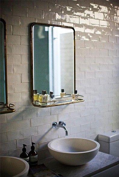 impermo carrelage mural effet brillant pour un look rétro pour salle de bains ou cuisine