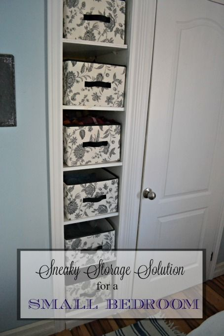Surprising Storage Solution for a Small Bedroom - Where one home owner found hidden space behind the walls to create a built in dresser! redcottagechronicles.com