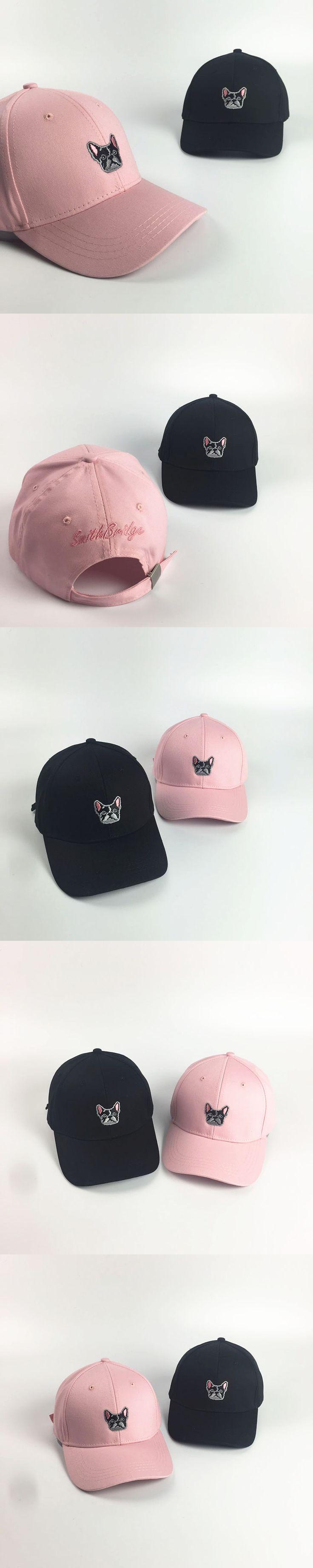 2016 New Arrival Gorras Korea Ulzzang Harajuku Cute Puppy Snapback Hats Embroidery Baseball Cap For Men And Women Peaked Caps